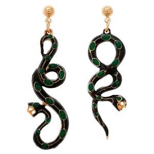 Amrita Singh Enamel Serpent Earrings